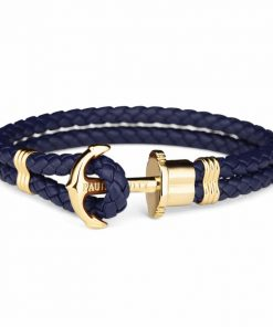 Paul Hewitt Ankerarmband PHREP IP Gold Marineblau 20cm - PH-PH-L-G-N-XL